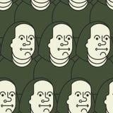 Het naadloze patroon van Benjamin Franklin op 100 dollarsbankbiljet de V.S. royalty-vrije illustratie