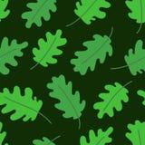 Het Naadloze Patroon van het blad Groene Eiken Bladeren Vector illustratie Plakboek, gift verpakkend document en textiel Manieron vector illustratie