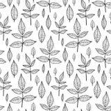Het naadloze patroon van bladeren Stock Foto's