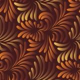 Het naadloze patroon van bladeren Royalty-vrije Stock Foto
