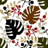 Het naadloze patroon van bladeren Royalty-vrije Stock Fotografie