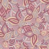 Het naadloze patroon van bladeren en van bloemen Royalty-vrije Stock Foto's