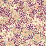 Het naadloze patroon van bladeren en van bloemen Royalty-vrije Stock Fotografie