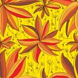 Het naadloze patroon van bloemdeco Royalty-vrije Stock Fotografie