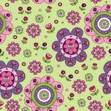 Het naadloze patroon van bloemen Stock Foto
