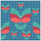 Het naadloze patroon van bloemen Royalty-vrije Stock Afbeelding