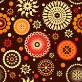 Het naadloze patroon van bloemen royalty-vrije illustratie