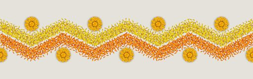 Het naadloze Patroon van Bloemrangoli stock illustratie