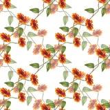 Het naadloze patroon van boeketzonnebloemen Stock Fotografie