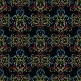 Het naadloze patroon van het borduurwerkdamast Tapijtwerk vector bloemenbackg Royalty-vrije Stock Fotografie