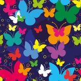 Het naadloze patroon van Butterfllies Royalty-vrije Stock Fotografie