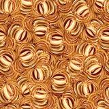 Het naadloze patroon van cappuccino's. Royalty-vrije Stock Afbeeldingen
