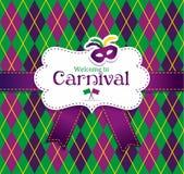 Het naadloze patroon van Carnaval Stock Fotografie