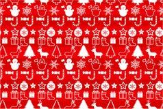 Het naadloze patroon van Christmass vector illustratie