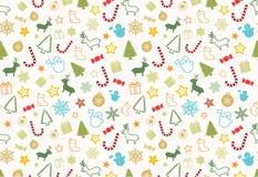 Het naadloze patroon van Christmass royalty-vrije illustratie