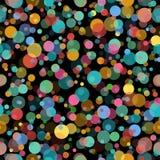 Het naadloze patroon van cirkeldeeltjes Royalty-vrije Stock Foto's