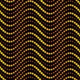 Het naadloze patroon van cirkelgolven Stock Illustratie