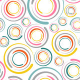 Het naadloze patroon van cirkels Stock Foto