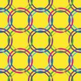 Het naadloze patroon van cirkels in retro kleuren Stock Afbeeldingen