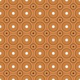 Het naadloze patroon van cirkels, vector stock illustratie