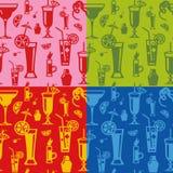 Het naadloze patroon van cocktails Royalty-vrije Stock Afbeeldingen