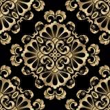 Het naadloze patroon van het damast Royalty-vrije Stock Afbeeldingen
