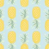 Het naadloze patroon van de ananas stock foto
