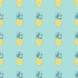 Het naadloze patroon van de ananas Stock Foto's