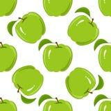 Het naadloze patroon van de appel Stock Foto