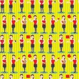 Het Naadloze Patroon van de Baan van het Meisje van PR Stock Foto's