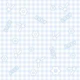 Het naadloze patroon van de baby Stock Afbeelding