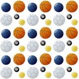 Het Naadloze Patroon van de Ballen van de sport Royalty-vrije Stock Afbeelding