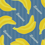 Het naadloze patroon van de banaan Stock Foto