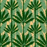 Het Naadloze Patroon van de banaanboom Stock Foto's