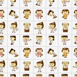 Het naadloze patroon van de beeldverhaalbeambte Stock Foto's