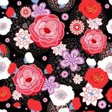 Het naadloze patroon van de bloem Stock Foto's