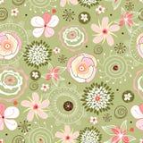 Het naadloze patroon van de bloem Royalty-vrije Stock Foto's