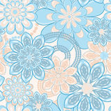 Het naadloze patroon van de bloem Stock Afbeeldingen