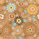 Het naadloze patroon van de Bloem van de herfst Royalty-vrije Stock Foto
