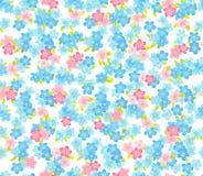 Het naadloze patroon van de bloemkleur Bloemen achtergrond vector illustratie