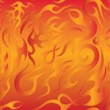 Het naadloze patroon van de brandvlam Stock Fotografie