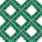 Het naadloze patroon van de cactusgrens Vector illustratie Stock Afbeeldingen