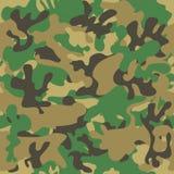Het naadloze patroon van de camouflage Bosstijl Stock Afbeeldingen
