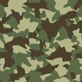 Het naadloze patroon van de camouflage Groen, bruin, de bostextuur van olijfkleuren royalty-vrije illustratie
