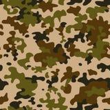 Het naadloze patroon van de camouflage Vectorillustratie in beeldverhaal eenvoudige vlakke stijl royalty-vrije illustratie