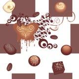Het naadloze patroon van de chocolade Stock Afbeelding