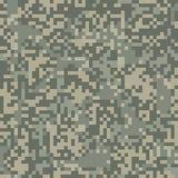 Het naadloze patroon van de cijfercamouflage voor dor gebied vector illustratie