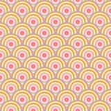 Het naadloze patroon van de cirkel Royalty-vrije Stock Foto's