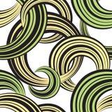 Het naadloze patroon van de cirkel Abstracte gestreepte bellen sierachtergrond Royalty-vrije Stock Foto