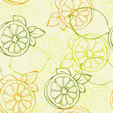 Het naadloze patroon van de citroen Stock Afbeelding